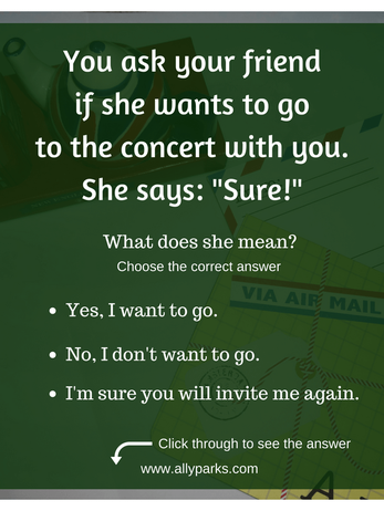 Define sure, sure meaning, English expressions, ESL, English speaking, speaking English, http://www.allyparks.com/english-blog/sure