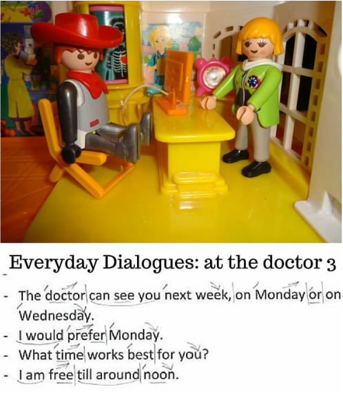 Everyday Dialogues, Download free English intonation and Rhythm Checklist, at the doctor, in the hospital, ESL, English conversation, spoken English, English speaking, speak English, sentence stress, intonation patterns, intonation examples, intonation in English, http://www.allyparks.com/english-blog/everyday-dialogues-at-the-doctor-3